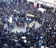 Syria, protests during protesters' funeral.