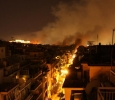 Athens, smoke over the city during clashes