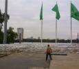 Thailand, sandbags to block water