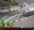 Egypt, man stopping an army truckjj