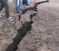 Japan earthquake, cracks in the ground