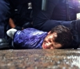 Occupy Wall St, young man arrested by police