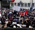 Tunis, protests in front of the Interior Ministry jj